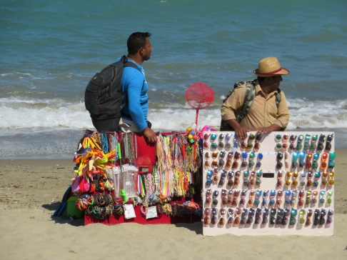 Hawkers on the beach