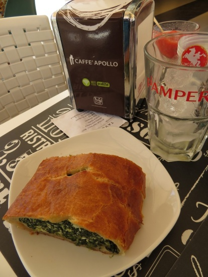 Spinich and ricotta