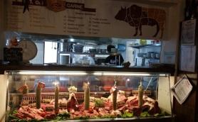 Meat counter at La Chianina