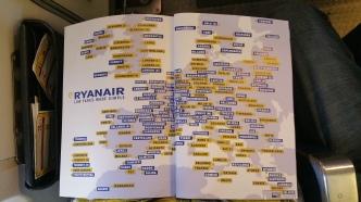 Ryanair flies all over Europe