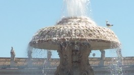 Cool fountain on a hot day