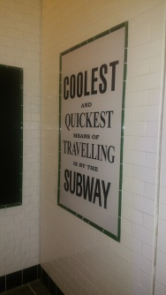 Old subway signs