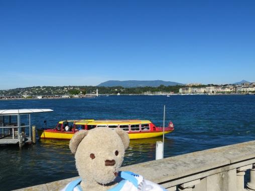 Cruise boat on Lake Geneva